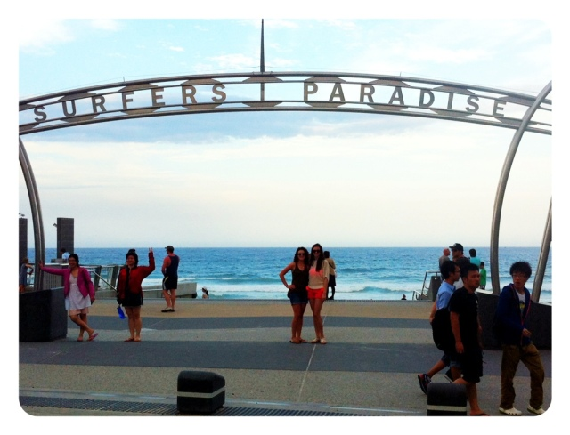 Cousins in Surfers Paradise