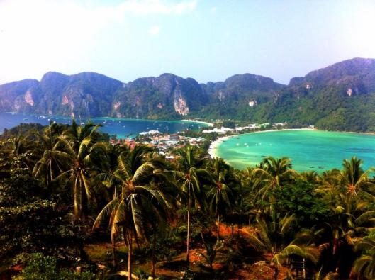 Beautiful Arial View of Ko Phi Phi
