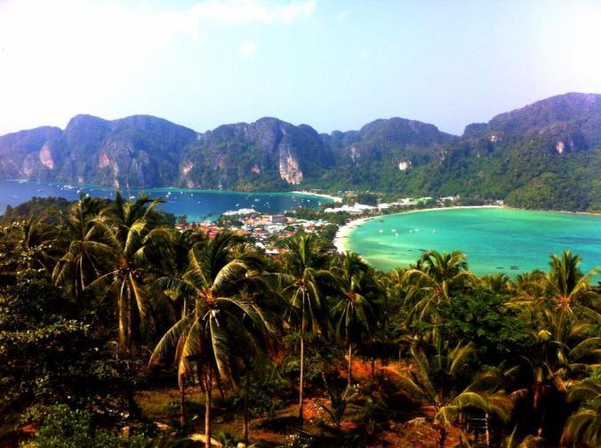 Beautiful Arial View of Ko Phi Phi