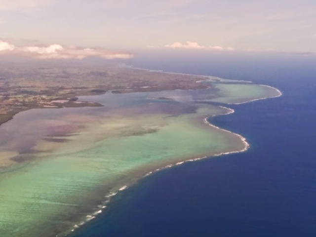 Flying into Fiji, that Reef Break!